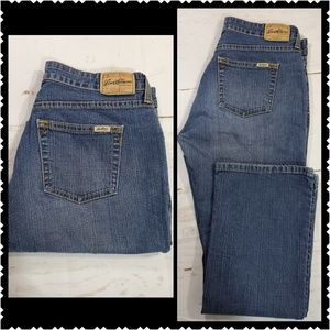 🔥Levi's 8 Short boot cut mid rise Casual Jeans